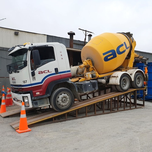 ACL Concrete Mixer parked on a ramp